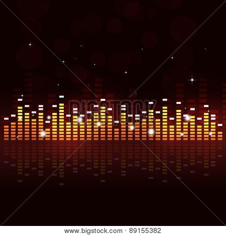 Multicolor Equalizer Music Background