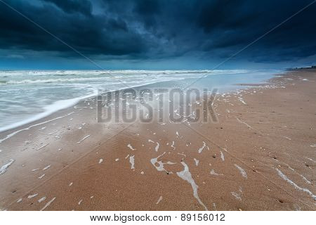 Storm On North Sea Coast
