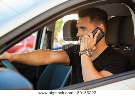 Driving And Talking On The Phone