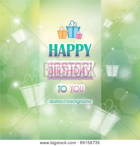Abstract Background With Gifts Birthday.