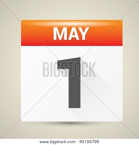 may day. 1 st may calendar icon