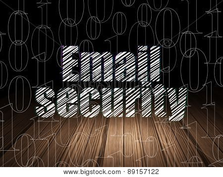 Privacy concept: Email Security in grunge dark room