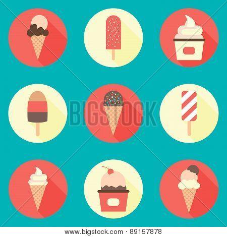 Ice-cream icon set