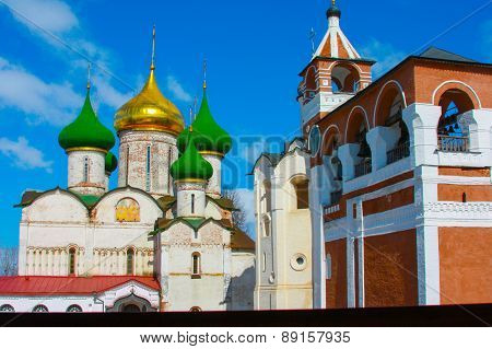 Russia. The City Of Suzdal. Winter. An Orthodox Church.