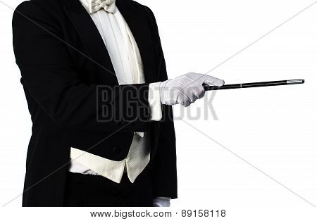 Magician Isolated On White