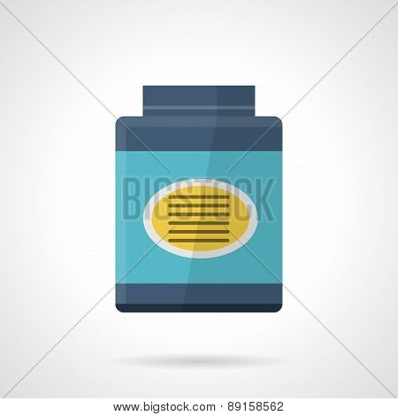 Flat vector icon for blue jar