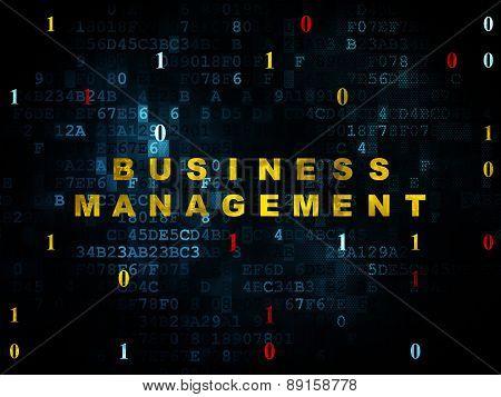 Finance concept: Business Management on Digital background