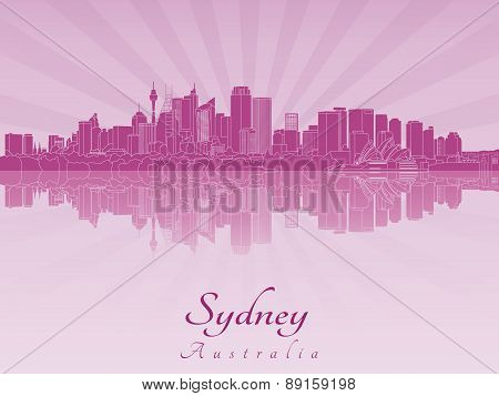 Sydney V2 Skyline In Purple Radiant Orchid