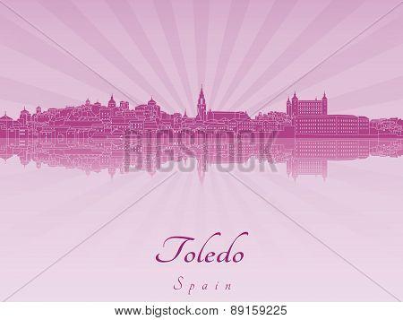 Toledo Skyline In Purple Radiant Orchid