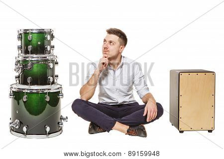 Cajon Man And Drums