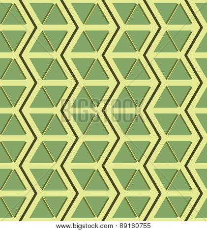 Beautiful Seamless Pattern Of Zigzags And Triangles