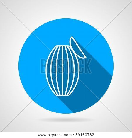 Resuscitation bag flat round vector icon