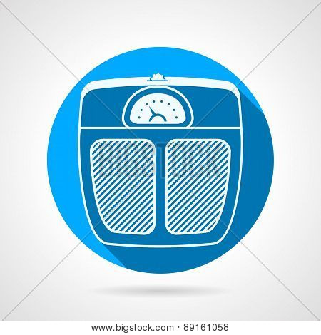Floor scales flat round vector icon