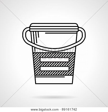 Meal replacement black line vector icon