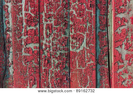 Old Vintage Painted Fence