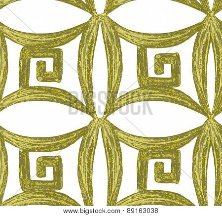 Abstract seamless tradition watercolor vector pattern