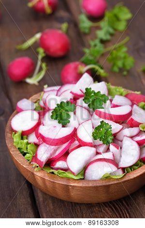 Fresh Radish Salad In Bowl