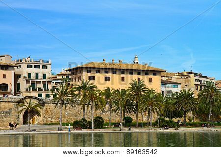 Majorca Palma Cathedral  At Balearic Islands Spain