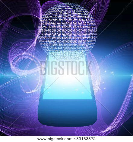 AT symbol mobile phone
