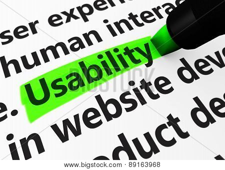 Web Usability Sign Concept