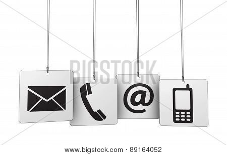 Web Contact Us Icons Tags