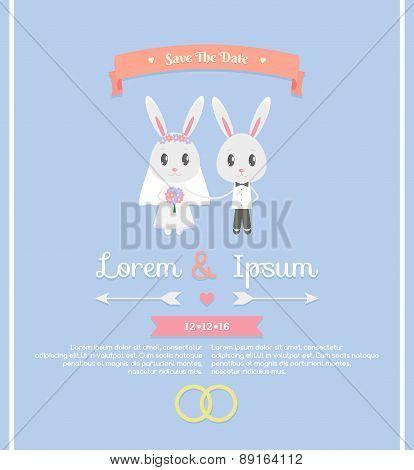 Cute Wedding Invitation Card