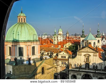 View On Roofs In Prague