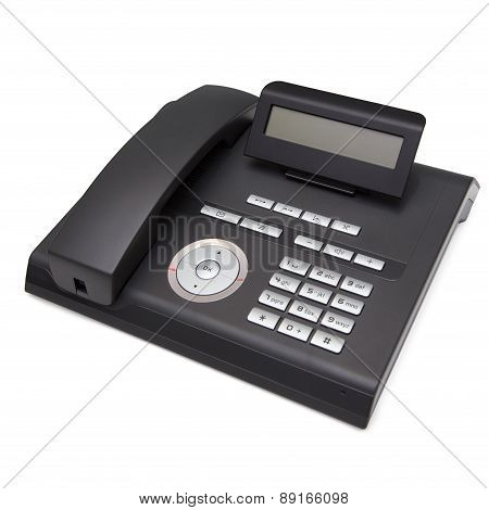 Black Telephone. Isolate On White Background