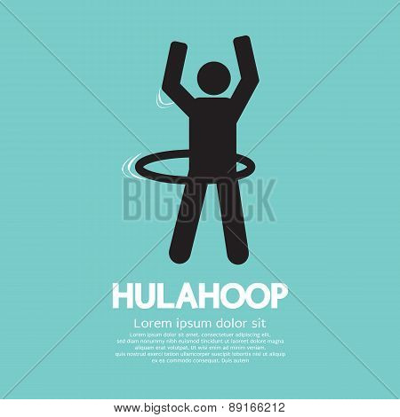 Human Playing A Hulahoop Symbol.