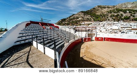 Bullring In White Village Of Mijas