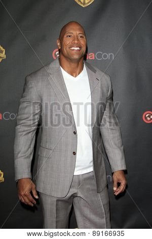 LAS VEGAS - APR 21:  Dwayne Johnson, aka The Rock at the Warner Brothers 2015 Presentation at Cinemacon at the Caesars Palace on April 21, 2015 in Las Vegas, CA