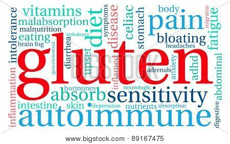 Gluten Word Cloud