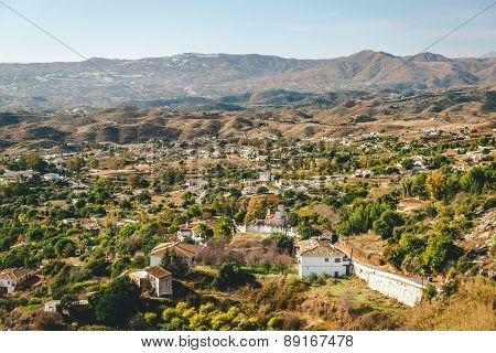 View From The Mijas Village To Fuengirola Town
