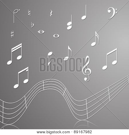 Treble Clef Musical Signs Of Paper