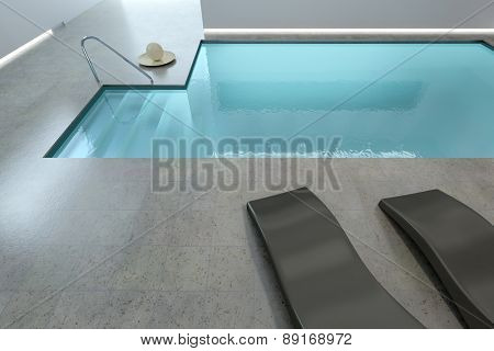 3D rendering of a beautiful indoor pool