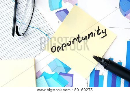 Papers with graphs and Opportunity concept.