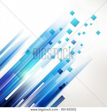 Abstract Blue Geometric Corner Elements