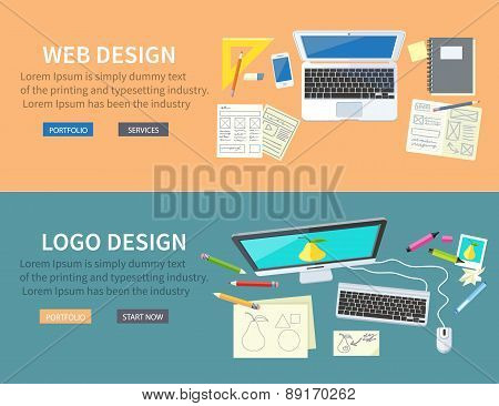 Web and Logo Design Concept