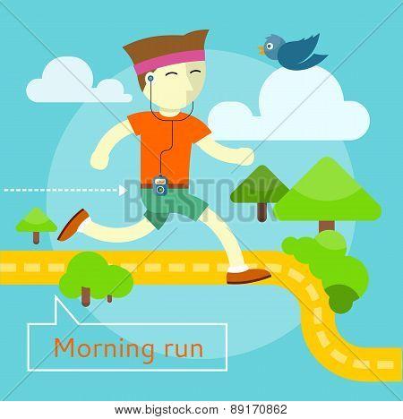 Morning Run Concept