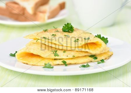 Fried Eggs With Herbs