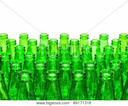Empty Green Bottles , Isolated
