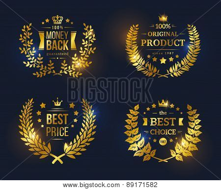 Vector vintage badges collection Best choice