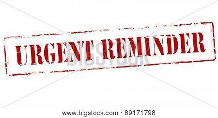Urgent Reminder
