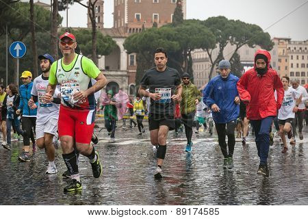 Athletes At The Rome Marathon.