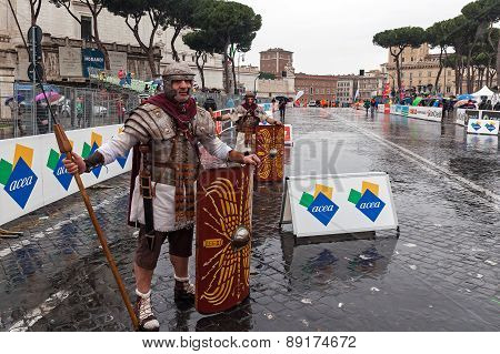 Roman Gladiators In The Marathon