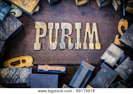 Purim Concept Rusty Type