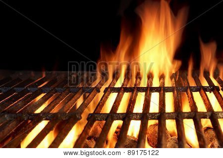 Hot Flaming Charcoal Grill