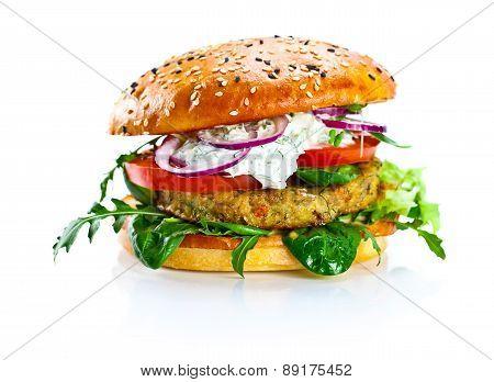 Burger Isolated On  White