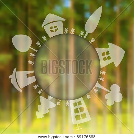 Vector Blurred Forest Background.