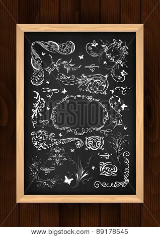 Chalkboard With Design Elements